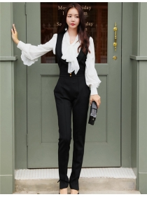 Fashion Korea High Waist V-neck Skinny Long Jumpsuits
