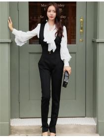 Fashion Korea High Waist V-neck Skinny Long Jumpsuits
