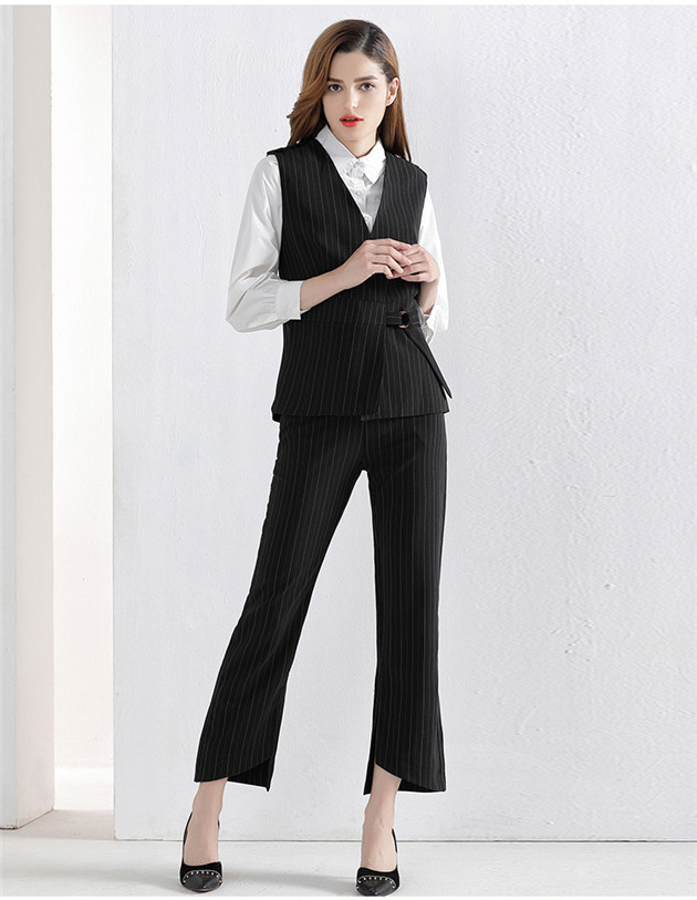 Autumn Fashion Stripes Slim Three Pieces Leisure Suits