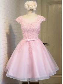 Lovely Fashion Mini Flowers Organza Fluffy Dress