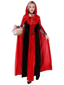 Fashion Women Little Red Hat Gown Costumes