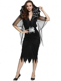 Halloween Black Spider Women Costumes