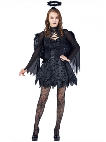 Sexy Fashion Black Fallen Angel Costumes
