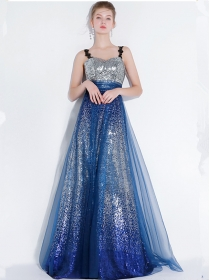 Elegant Fashion Shining Sequins Gauze Fluffy Prom Dress