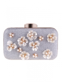 Wholesale 3 Colors Beads Flowers Clutch Bag