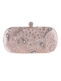 New Arrive 3 Colors Rhinestone Flowers Embroidery Clutch Bag