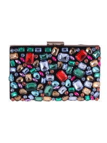Retro Fashion Colorful Rhinestones Clutch Bag