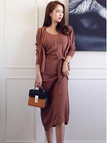 Fashion Korea 2 Colors Knitting Blouse with Straps Knitting Dress