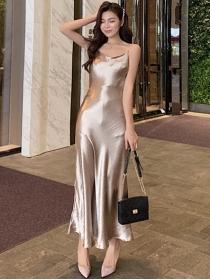 Sexy Charming Slim Waist Straps Fishtail Maxi Dress