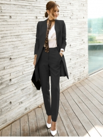 Modern New 2 Colors Bowknot Tie Slim Two Pieces Long Suits