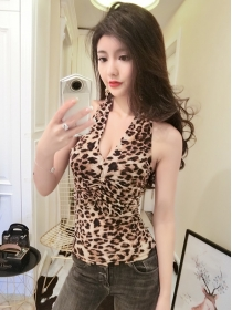 Sexy Lady 2 Colors Backless Leopard Short Camisole