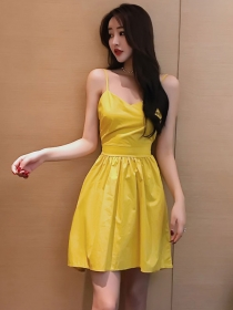 Pretty Summer 2 Colors Backless Bowknot Straps A-line Dress