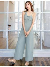 Modern Sexy 2 Colors High Waist Wide-leg Straps Jumpsuit