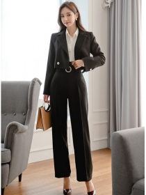 Quality Fashion Tailored Collar High Waist Long Suits