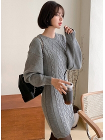 Spring Fashion Waist Hollow Out Twisted Knitting Dress