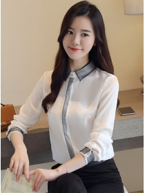 Korea Spring Wholesale Doll Collar Long Sleeve Blouse