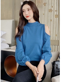 Modern New 2 Colors Off Shoulder Long Sleeve T-shirt