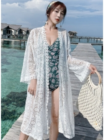 Fashion Sexy Lace Flowers Loosen Bikini Cardigans