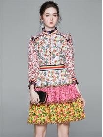 Charming Fashion Layered Flouncing Flowers A-line Dress