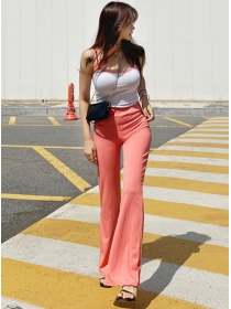 Summer New knitting Camisole with Slim Long Pants
