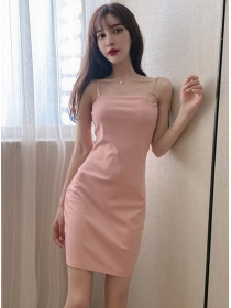 Sexy Summer 3 Colors Chain Straps Bodycon Dress