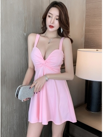 Sexy Lady 2 Colors Twisted Low Bust Straps Dress