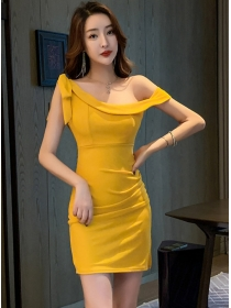 Pretty Sexy 3 Colors Boat Neck Bodycon Tank Dress