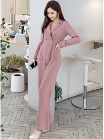 Wholesale Korea Double-breasted Slim Long Jumpsuit