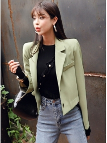 Autumn New Fashion Tailored Collar Slim Short Coat