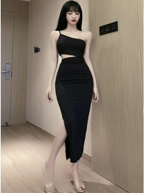 Sexy Wholesale Boat Neck Hollow Out Straps Dress