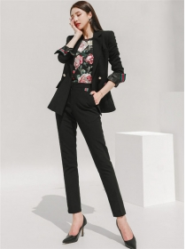 Boutique Fashion Tailored Collar Slim Two Pieces Suits