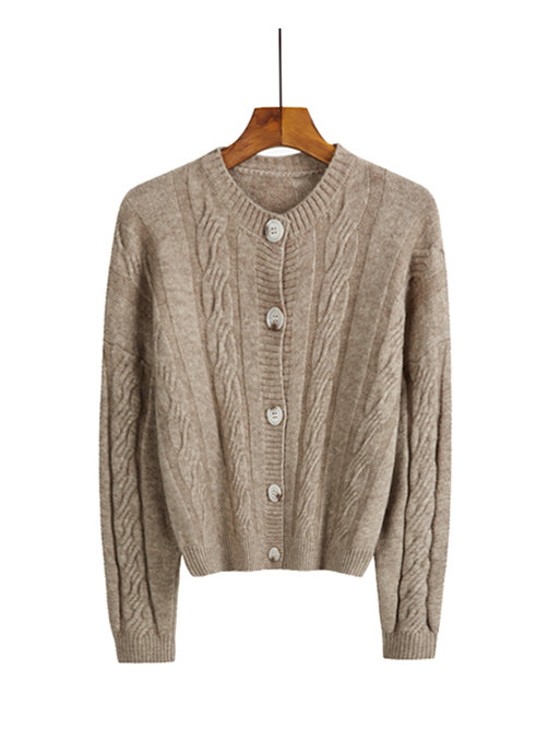 Simple Fashion 3 Colors Buttons Open Short Sweaters