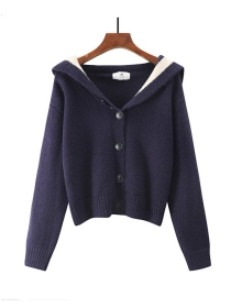 Autumn New 3 Colors Buttons Open Wraps Sweaters