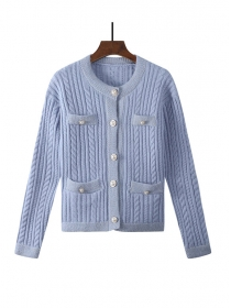 Wholesale Stylish 3 Colors Buttons Open Sweater Coat