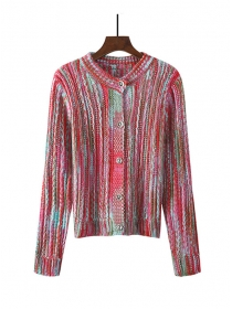 Hot Selling 3 Colors Rainbow Stripes Sweater Pullovers