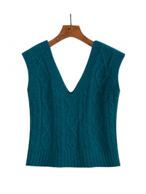 All Match 5 Colors V-neck Twisted Tank Sweater