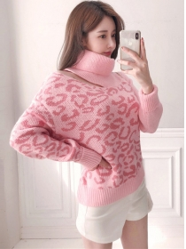 Lovely Wholesale Stand Collar Loosen Sweater Pullovers