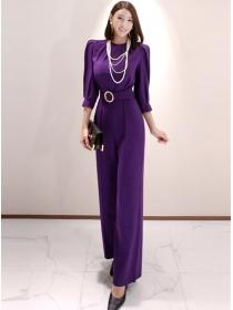 Brand Fashion High Waist Wide-leg Long Jumpsuits