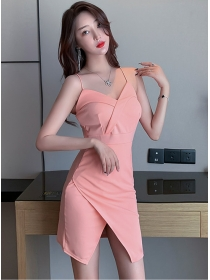 Fashion Sexy 3 Colors V-neck Straps Slim Dress