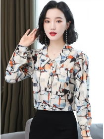 Retro Spring Doll Collar Plaids Long Sleeve Blouse