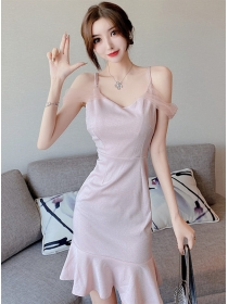 Sexy Charm 2 Colors V-neck Fishtail Shining Dress