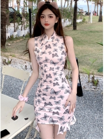 Pretty Korea Butterfly Fishtail Bodycon Tank Dress