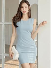 Wholesale Korea OL Round Neck Bodycon Tank Dress