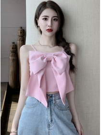 Lovely Fashion 4 Colors Bowknot Short Camisole
