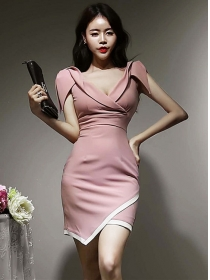 Retro Wholesale V-neck Fitted Waist Slim Tank Dress