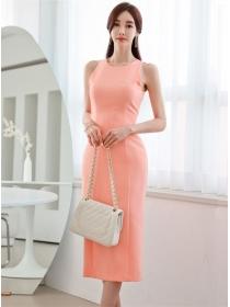 Summer Fashion Round Neck Bodycon Tank Long Dress