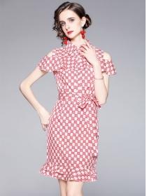Retro Women Fashion Off Shoulder Fishtail Bodycon Dress