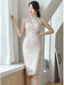 Elegant Fashion Flouncing Off Shoulder Lace Bodycon Dress