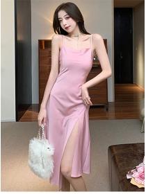 Wholesale Fashion Split Straps Slim A-line Dress