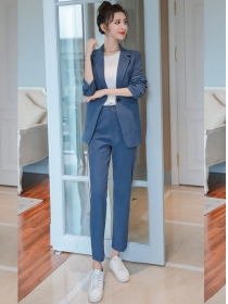 Fashion Women 3 Colors Tailored Collar Slim Long Suits